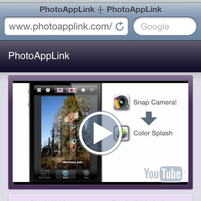 The PhotoAppLink makes easy multiple Photo Apps edition