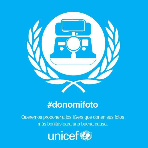 Campaña Donomifoto con Unicef en Instagram