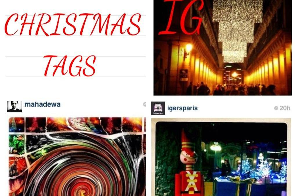 Instagram Christmas tags.