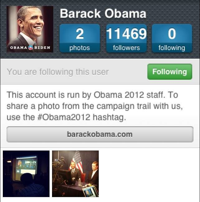 The day Obama joined Instagram