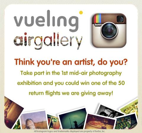 With VuelingAirGallery Contest in Instagram, your pics will fly around the world