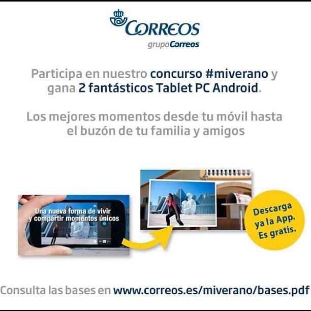 Correos también organiza un concurso en Instagram