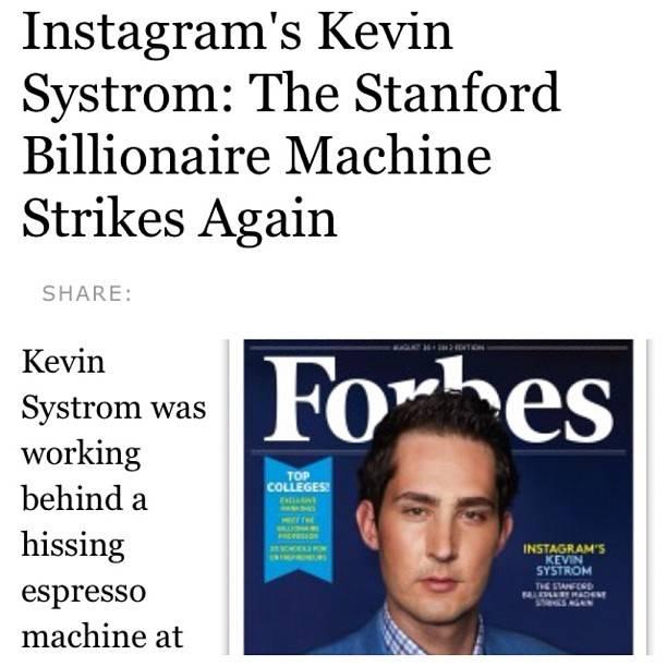 La asombrosa historia de Kevin Systrom, fundador de Instagram