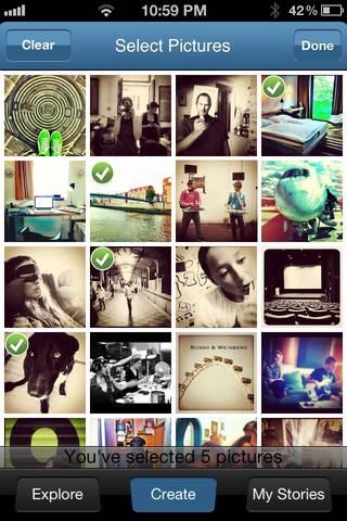 My InstaStory App, Short Stories made of Instagram Pics.