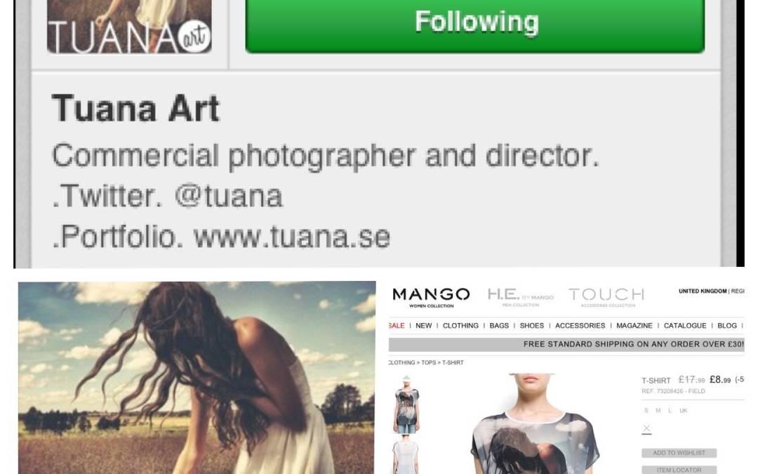 Mango usa sin autorizacion una foto de Instagram en una de sus prendas