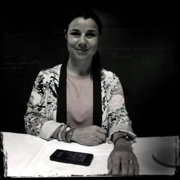 """Anna Payet, mujer de Joan, también participa a la vida diaria del establecimiento. """"El Celler de Can Roca, es un estilo de vida , empiezas poco a poco y te embulle.""""."""
