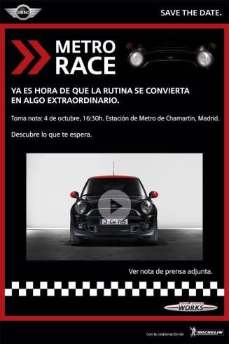 Save the date Mini 4oct Madrid Metro Race