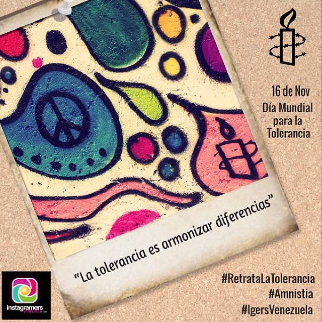 Amnesty International and Instagramers Venezuela launch a photo contest around the International Day of Tolerance!