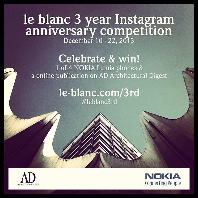 Le_Blanc Third Anniversary Competition on Instagram