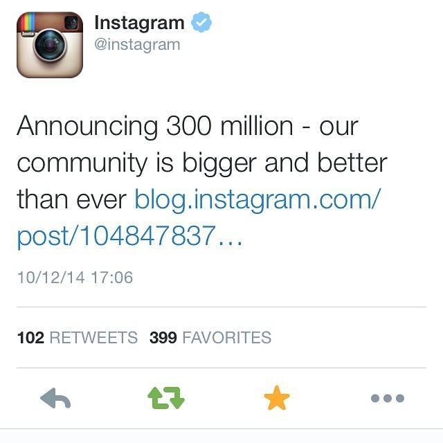 Instagram supera los 300 millones de usuarios y los 70 millones de fotos al día