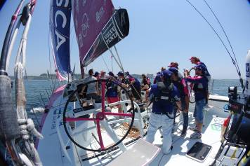 5 June 2014 Team SCA Volco Ocean Race, Lisbon. ProAm 3 Guests onboard