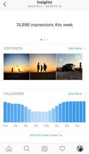 impresiones por usuarios en instagram