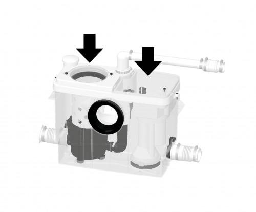 Saniwall® Pro UP: De totaaloplossing voor het installeren van een wandcloset
