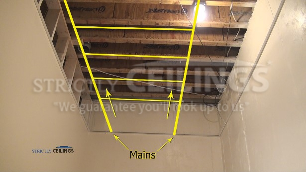 Basic Ceiling Grid Layout Drop Ceilings Installation How To | False Ceiling On Stairs | Residential | Pvc Panel Ceiling | Kitchen | Traditional | Living Room Hardiflex Ceiling