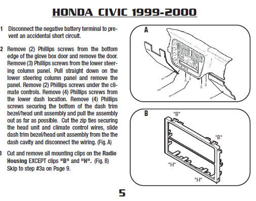 .1999-HONDA-CIVICinstallation Instructions