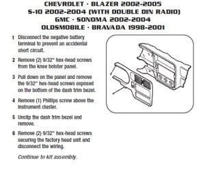 2004GMCSONOMAinstallation instructions