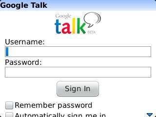 Install or Not : Google Talk for BlackBerry smart phones