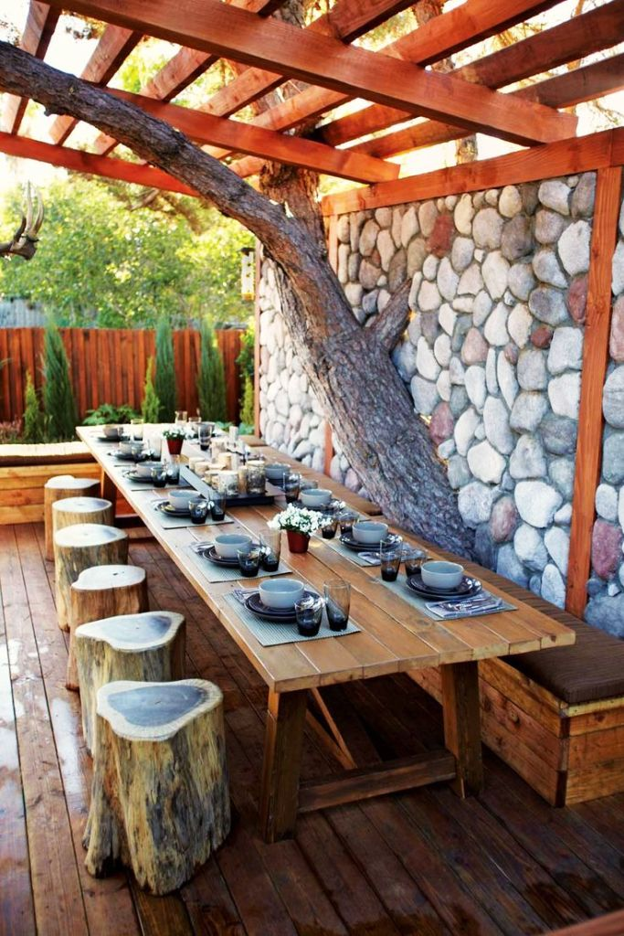 15 Easy Rustic Outdoor Decor Ideas For You - Instaloverz on Rustic Backyard Ideas id=41993