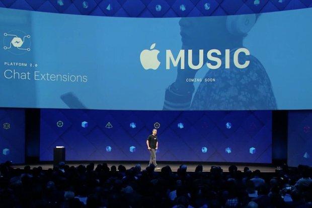 Apple Music su Facebook Messenger