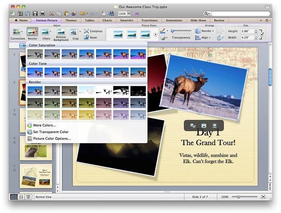 powerPoint mac 2011