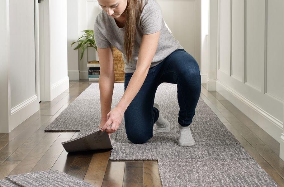 why carpet tiles are easy flooring