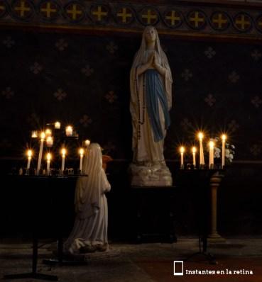 Vierge de Lourdes et Ste Bernadette