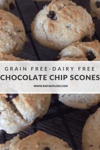 Grain Free-Dairy Free Chocolate Chip Scones instantloss.com