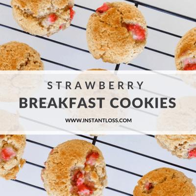 Strawberry Breakfast Cookies