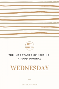 The Importance of Keeping a Food Journal-Day 3 instantloss.com