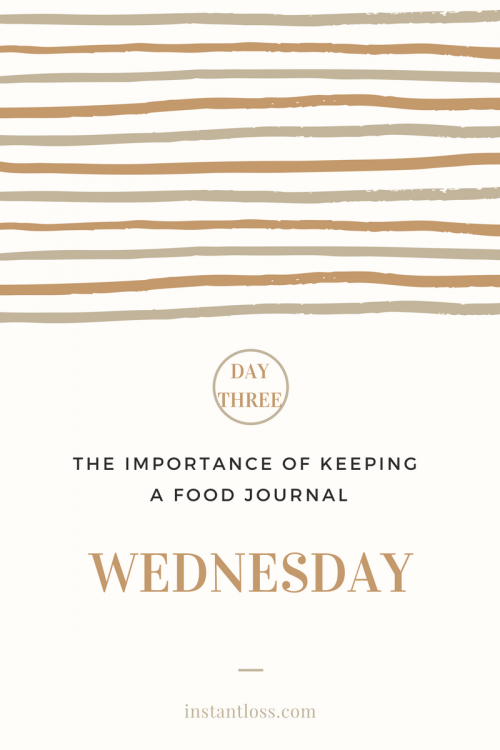 The Importance of Keeping a Food Journal- Day 3