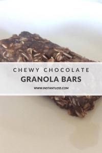Chewy Chocolate Granola Bars instantloss.com