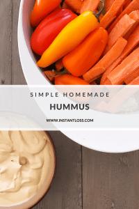 Simple Homemade Hummus instantloss.com