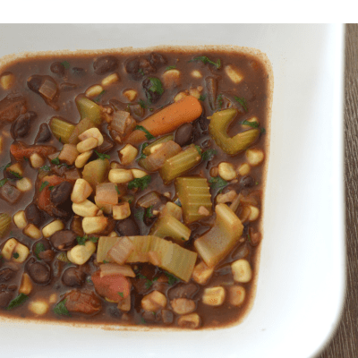Instant Pot Vegan Black Bean Soup