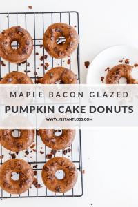 Pumpkin Cake Donuts with Maple Bacon Glaze instantloss.com