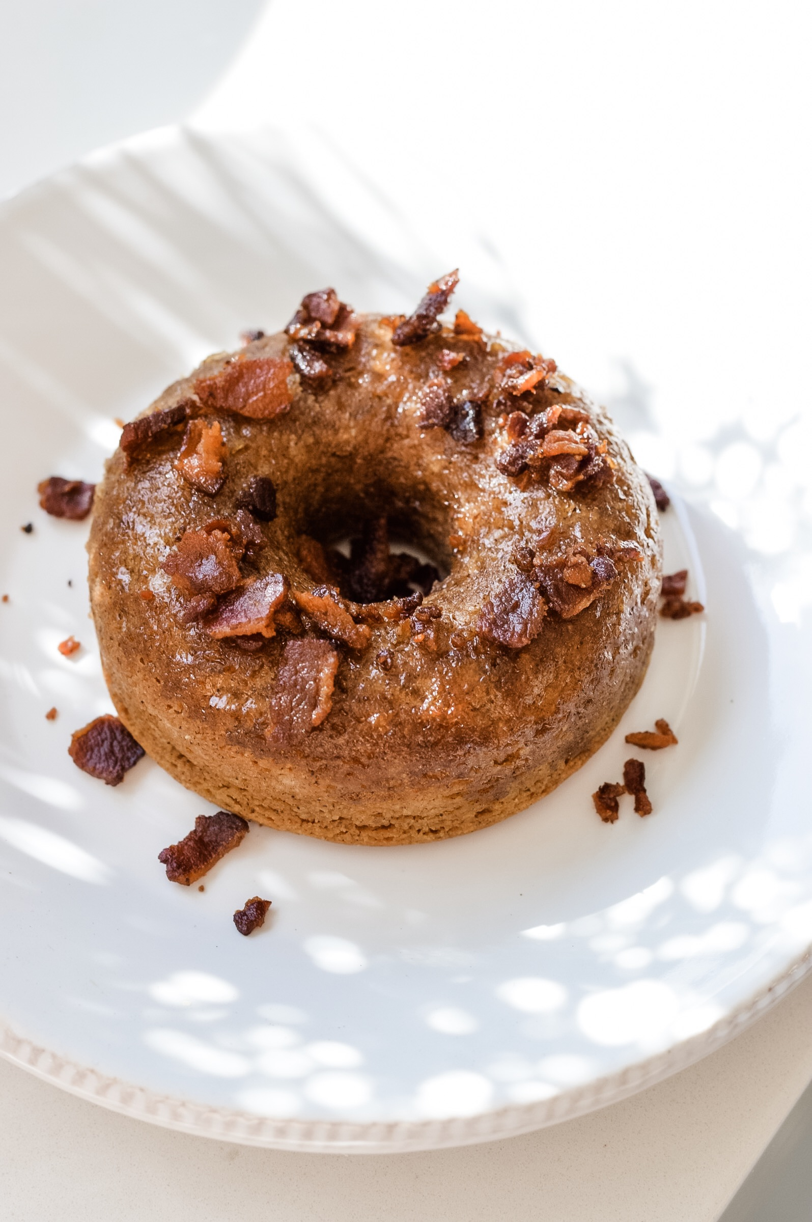 Pumpkin Cake Donuts with Maple Bacon Glaze instantloss.com