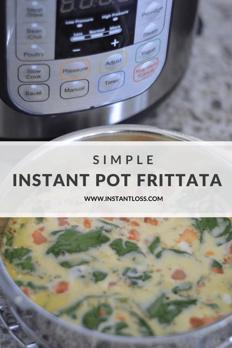 Simple Instant Pot Frittata instantloss.com