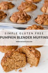 Simple Grain Free Pumpkin Blender Muffins instantloss.com