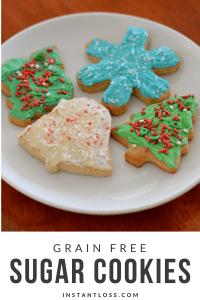 Grain Free Sugar Cookies instantloss.com