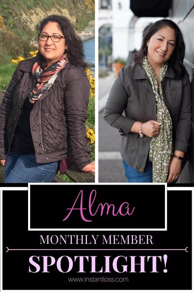 Monthly Member Spotlight Alma instantloss.com