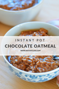 Instant Pot Chocolate Oatmeal instantloss.com
