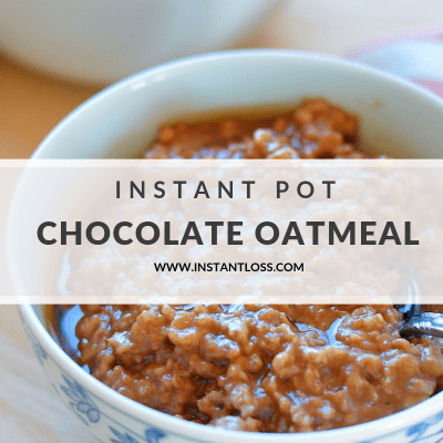 Instant Pot Chocolate Oatmeal