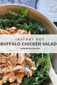 Instant Pot Buffalo Chicken Salad instantloss.com