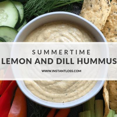 Summertime Lemon and Dill Hummus