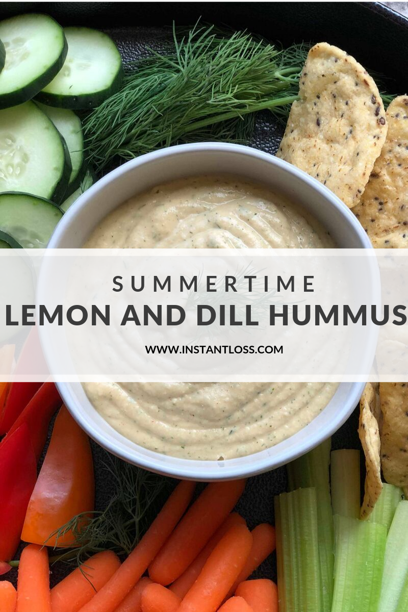 Summertime Lemon and Dill Hummus instantloss.com