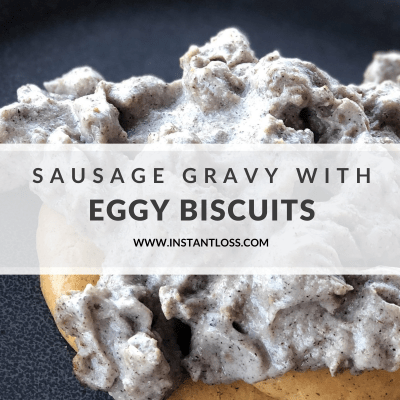 Sausage Gravy with Eggy Biscuits