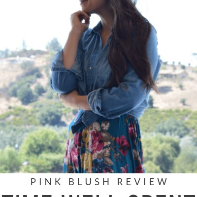 Time Well Spent {PinkBlush Review and Giveaway}