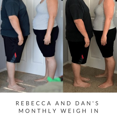 February Monthly Weight Loss Weigh In {Rebecca and Dan}