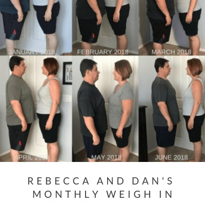 June Monthly Weight Loss Weigh In {Rebecca and Dan}