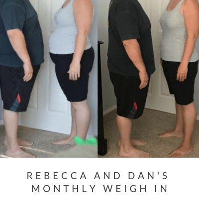 July Monthly Weight Loss Weigh In {Rebecca and Dan}