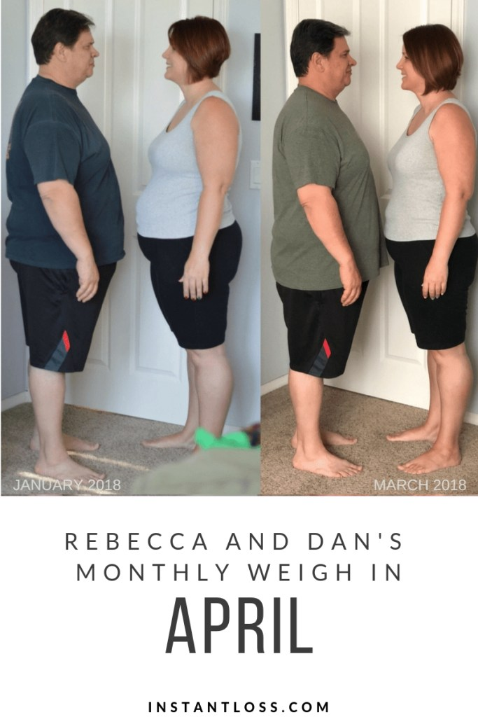 April Monthly Weight Loss Weigh In {Rebecca and Dan}
